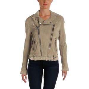 Iro Ferea Moto Suede Leather Jacket Size 44 NWT